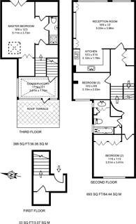 Large floorplan for Portnall Road, Maida Hill, W9