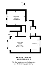 Large floorplan for Filmer Road, Parsons Green, SW6