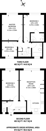 Large floorplan for Streatham Close, Streatham Hill, SW16