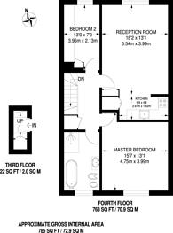Large floorplan for Eccleston Square, Pimlico, SW1V
