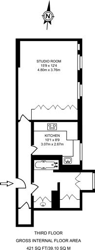 Large floorplan for Hay Hill, Mayfair, W1J