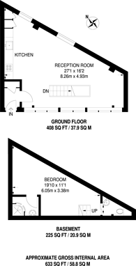 Large floorplan for Murray Street, Camden Town, NW1