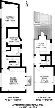 Large floorplan for Tufton Street, Westminster, SW1P