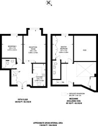 Large floorplan for Boss House, Shad Thames, SE1