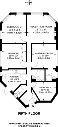 Large floorplan for Stourcliffe Close, Marylebone, W1H