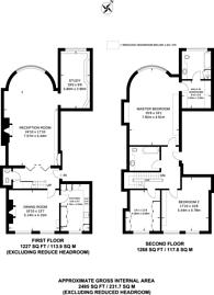 Large floorplan for Charles Street, Mayfair, W1J