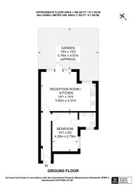Large floorplan for Chatsworth Gardens, Acton, W3