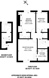 Large floorplan for Leamington Road Villas, Notting Hill, W11