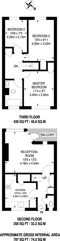 Large floorplan for Crownstone Road, Brixton Hill, SW2