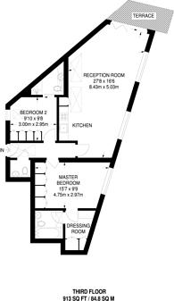 Large floorplan for Effie Road, Fulham, SW6
