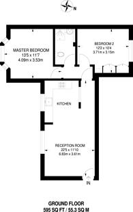 Large floorplan for Croft Court, Ruislip, HA4