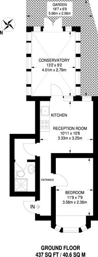 Large floorplan for Bryony Road, Shepherd's Bush, W12