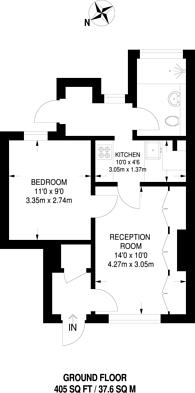 Large floorplan for Deal Street, Spitalfields, E1