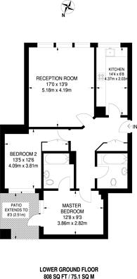Large floorplan for Cross Street, Islington, N1