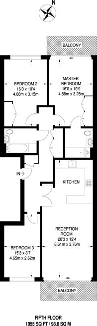 Large floorplan for Voysey Square, Bow, E3