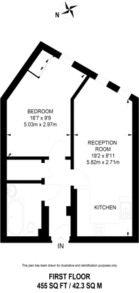 Large floorplan for Mildmay Avenue, Mildmay, N1