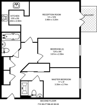 Large floorplan for Tudor Way, Knaphill, GU21