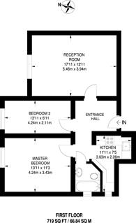 Large floorplan for Creffield Road, Ealing Common, W5