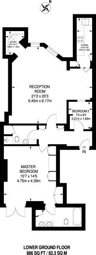 Large floorplan for Pont Street, Chelsea, SW1X