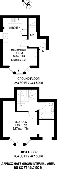 Large floorplan for Sutherland Road, Croydon, CR0
