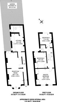 Large floorplan for Haydons Road, Wimbledon, SW19