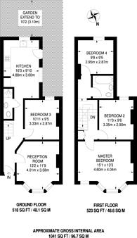 Large floorplan for Woodlands Park Road, Greenwich, SE10