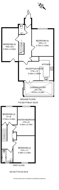 Large floorplan for Almond Close, Guildford, GU1