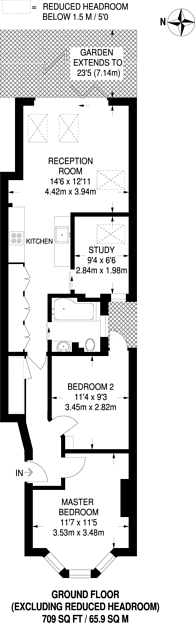 Large floorplan for Selborne Road, Alexandra Park, N22