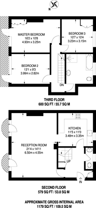 Large floorplan for Acorn Walk, Rotherhithe, SE16