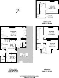 Large floorplan for Cloncurry Street, Bishop's Park, SW6