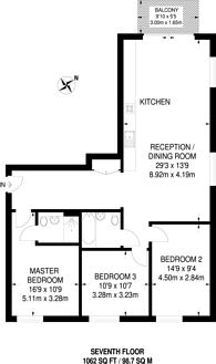 Large floorplan for Aurelia House, Stratford, E20
