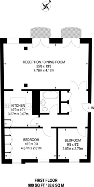 Large floorplan for Water Lane, Richmond, TW9