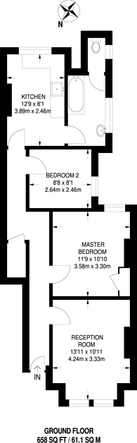 Large floorplan for Deacon Road, Willesden Green, NW2