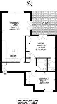 Large floorplan for Beechcroft Avenue, Golders Green, NW11