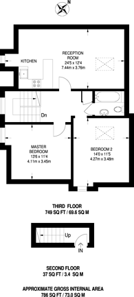 Large floorplan for Christchurch Road, Tulse Hill, SW2