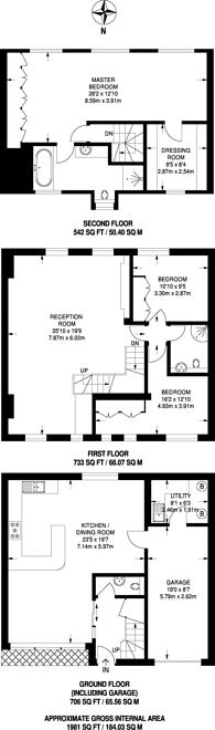 Large floorplan for Holbein Mews, Belgravia, SW1W