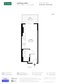 Large floorplan for Gatliff Road, Chelsea, SW1W