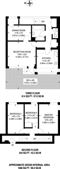 Large floorplan for Kirwyn Way, Camberwell, SE5