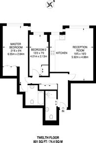 Large floorplan for Cambridge Square, Hyde Park Estate, W2