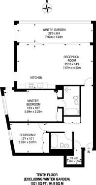 Large floorplan for Riverside Quarter, Wandsworth, SW18