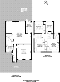 Large floorplan for Kynaston Wood, Harrow Weald, HA3