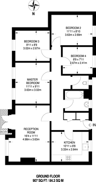 Large floorplan for Beckenham Hill Road, Beckenham Hill, BR3
