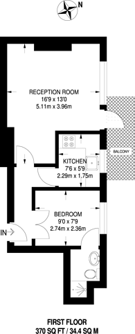 Large floorplan for Wilton Grove, Wimbledon, SW19