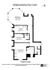 Large floorplan for Grosvenor Road, Pimlico, SW1V