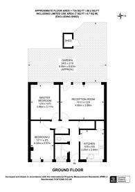 Large floorplan for Larch Close, Balham, SW12