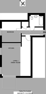 Large floorplan for Royal Gateway, Canning Town, E16