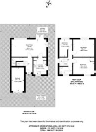 Large floorplan for Percy Road, Stoughton, GU2