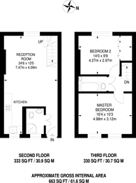 Large floorplan for Newell Street, Limehouse, E14