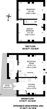 Large floorplan for Camberwell Grove, Camberwell, SE5