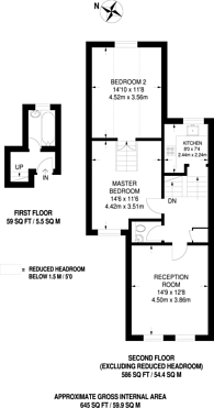 Large floorplan for Staverton Road, Brondesbury, NW2
